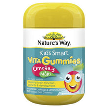 Load image into Gallery viewer, Nature's Way Kids Smart Vita Gummies Multi + Omega 50 Pastilles