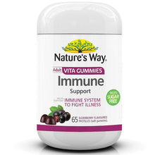 Load image into Gallery viewer, Nature's Way Vita Gummies Adult Immune Sugar Free 65 Pastilles