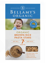 Load image into Gallery viewer, Bellamy's Organic Brown Rice Pasta Stars 7+ Months 200g