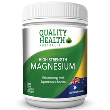 Load image into Gallery viewer, Quality Health High Strength Magnesium 100s