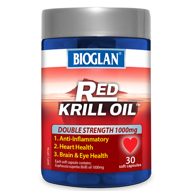 Bioglan Red Krill Oil Double Strength 1000mg 30 Soft Capsules