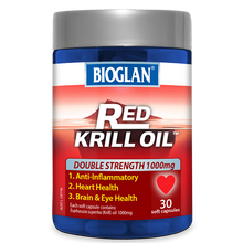 Load image into Gallery viewer, Bioglan Red Krill Oil Double Strength 1000mg 30 Soft Capsules
