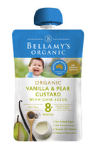 Load image into Gallery viewer, Bellamy's Organic Vanilla & Pear Custard with Chia Seeds 8+ Months 120g