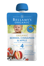 Load image into Gallery viewer, Bellamy's Organic Berries, Cinnamon & Apple 4+ Months 120g
