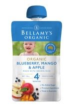 Load image into Gallery viewer, Bellamy's Organic Blueberry, Mango & Apple 4+ Months 120g