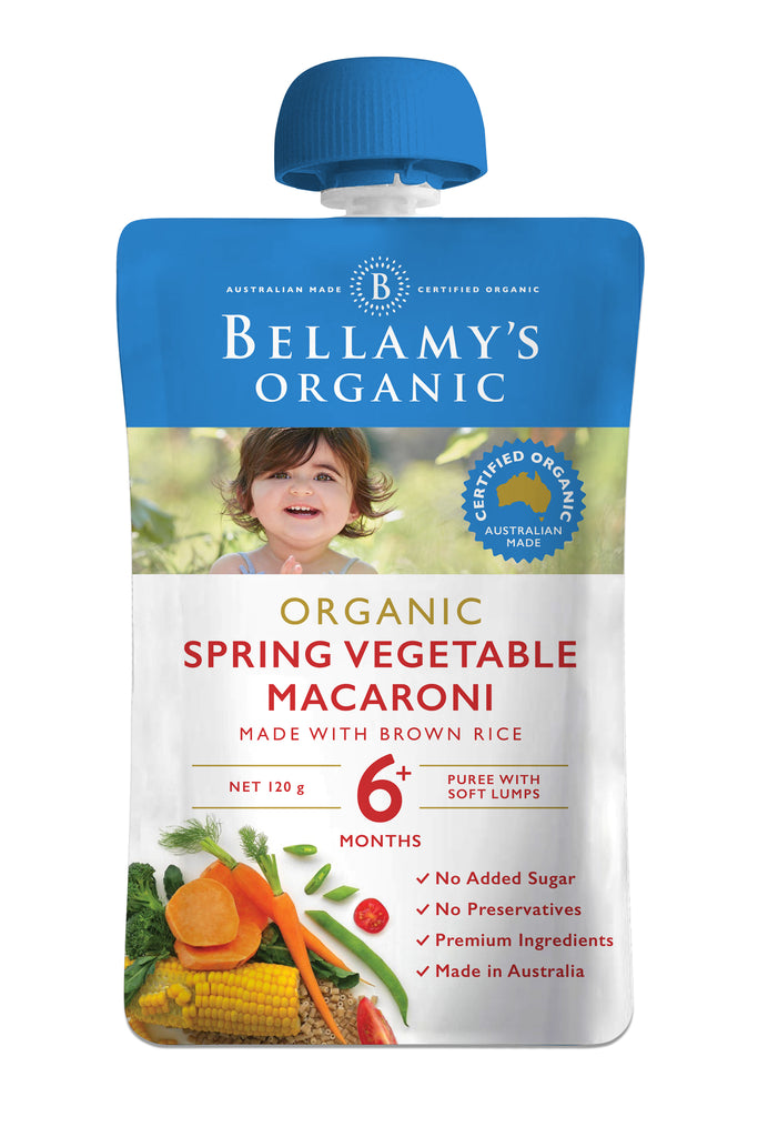 Bellamy's Organic Spring Vegetable Macaroni 6+ Months 120g