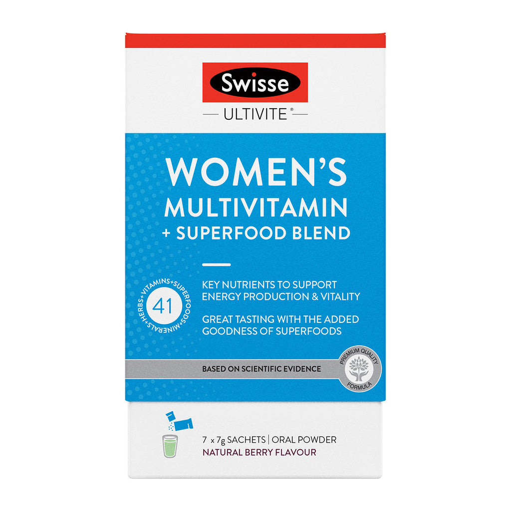 SWISSE Ultivite Womens Multivitamin + Superfood Blend 7 Pack