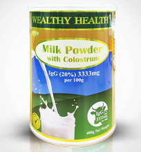 Load image into Gallery viewer, Wealthy Health Colostrum 20% IgG 3333mg Milk Powder 400g