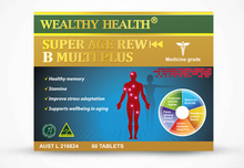 Load image into Gallery viewer, Wealthy Health Super Age Rewind B Multi Plus 60 Tablets
