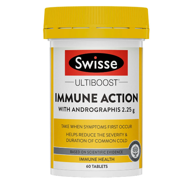 SWISSE Ultiboost Immune Action 60 Tablets