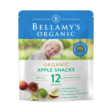 Load image into Gallery viewer, Bellamy's Organic Apple Snacks 12+ Months 20g
