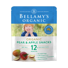 Load image into Gallery viewer, Bellamy's Organic Pear & Apple Fruit Snacks 12+ Months 20g
