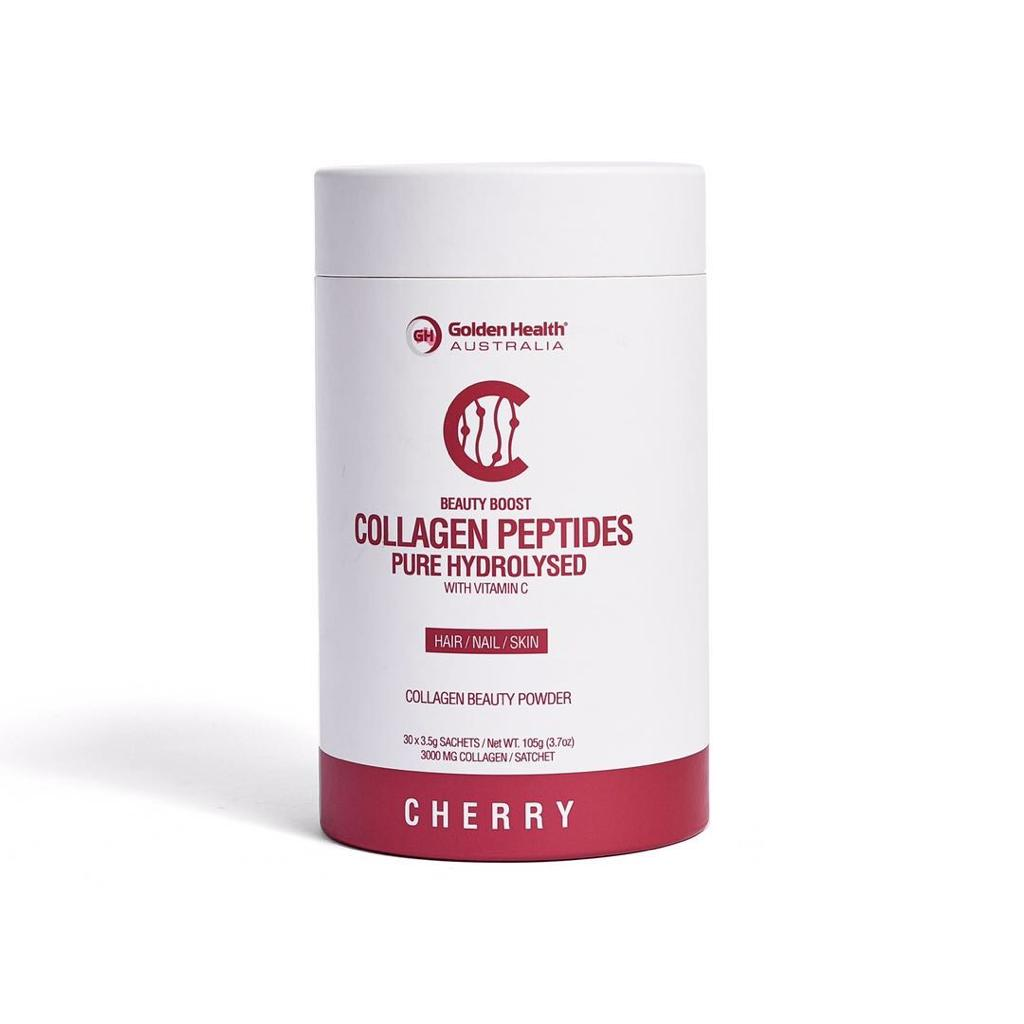 Golden Health Collagen Peptides Powder Cherry 30 x 3.5g Sachets