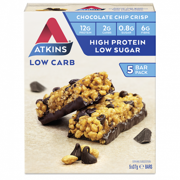 Atkins Low Carb Chocolate Chip Crisp 5 bars x 37g
