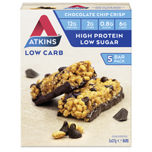 Load image into Gallery viewer, Atkins Low Carb Chocolate Chip Crisp 5 bars x 37g