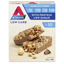 Load image into Gallery viewer, Atkins Low Carb Chocolate Hazelnut Crisp 5 bars x 37g
