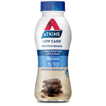 Load image into Gallery viewer, Atkins Low Carb Protein Shake Smooth Chocolate RTD 330mL