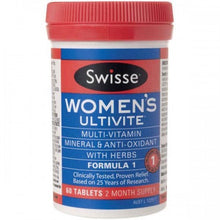 Load image into Gallery viewer, SWISSE Women's Ultivite Formula 1 60 Tablets