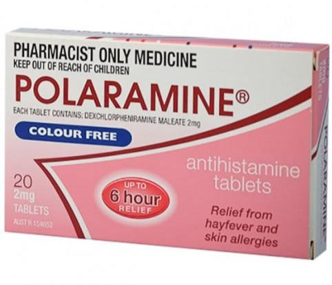 Polaramine 2mg 20 Tablets (S3) (Limit of ONE per Order)