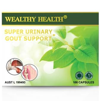 Wealthy Health Super Urinary Gout Support 100 Capsules