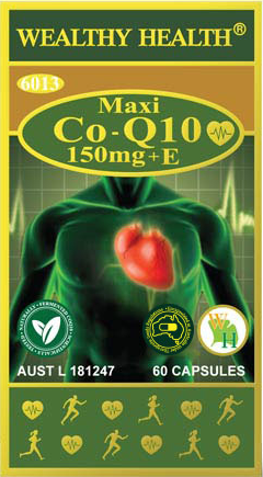 Wealthy Health Maxi CO-Q10 150mg + Vitamin E 60 Capules