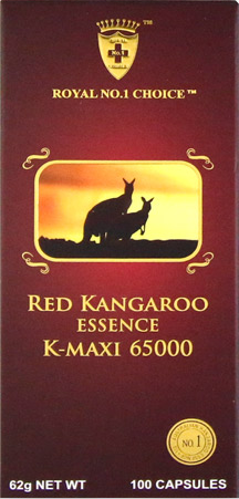 Wealthy Health Red Kangaroo Essence K-Maxi 65000 100 Capsules