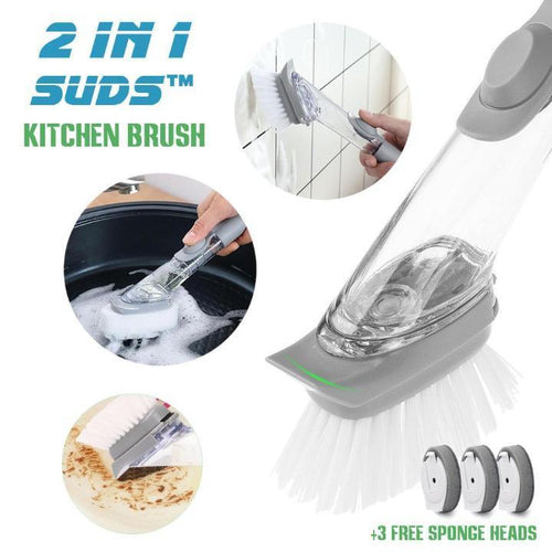 2-in-1 Suds™ Kitchen Cleaning Brush Set
