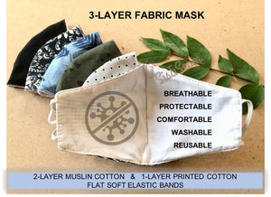 Original Collection - Fabric Face Mask (US Stock)
