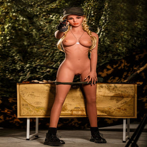 Blonde Military Sex Doll and Body 10, Ready for Battle.