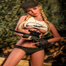 Load image into Gallery viewer, Blonde Military Sex Doll and Body 10, Ready for Battle.