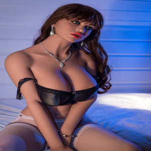 Young Brunette with Big Boobs and Fleshy Lips-Silicone Doll different sizes