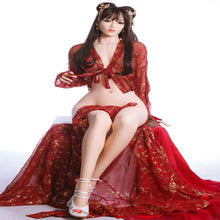 Load image into Gallery viewer, Beautiful Japanese girl with soft skin, long black straight hair, dark eyes and perfect measurements. Real life size sillicone doll Unique height of 176cm