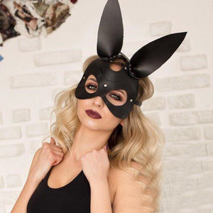 Sexy woman with sweet bunny mask BDSM