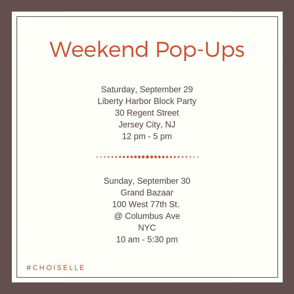 Weekend Pop Ups