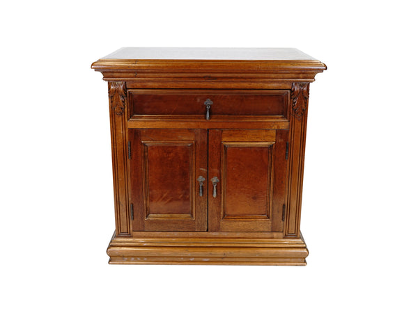 villa spanish revival nightstand hand carved wood