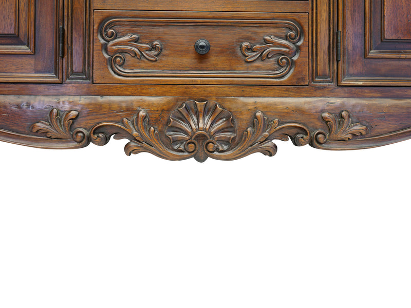 handcarved spanish revival style buffet