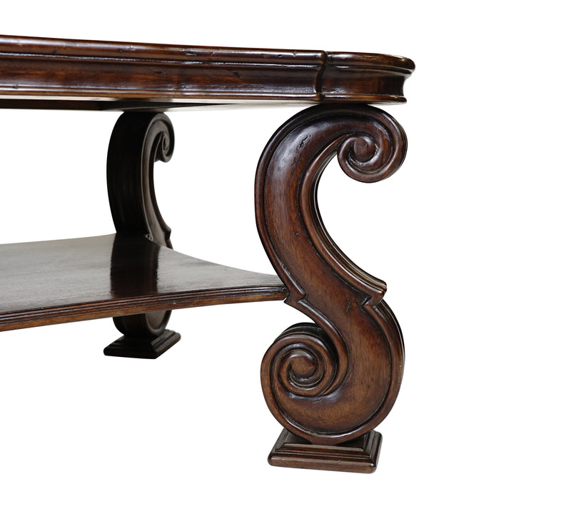 via Romani Spanish Revival wooden coffee table