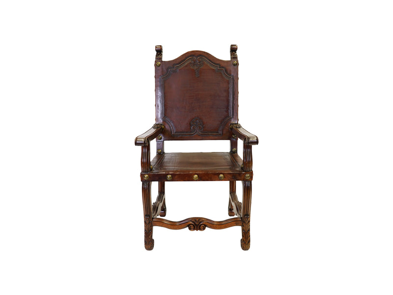 villa spanish revival style armchair napoli leather