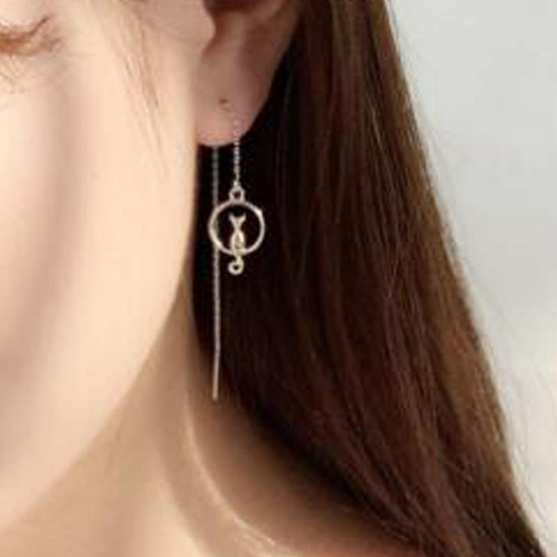Cat Earring - Cat On Moon Earrings - FREE!