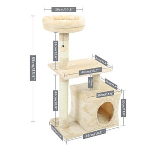 Cat Tree - Multifunctional Cat Tree | Scratching Removable Pad