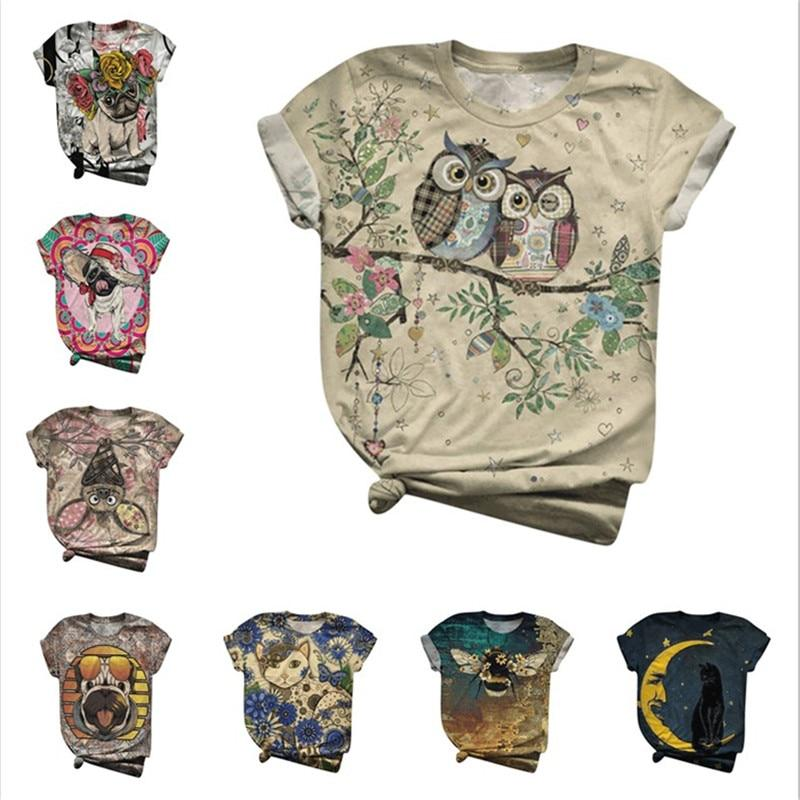 T-Shirt - 3D Animal Print Women's T-Shirt