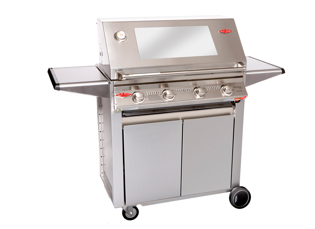 3000S Series - 4  Burner BBQ with Designer Trolley Stainless Steel Pack