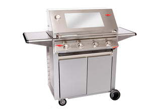 3000S Series - 4  Burner BBQ with Designer Trolley Cast Iron Pack