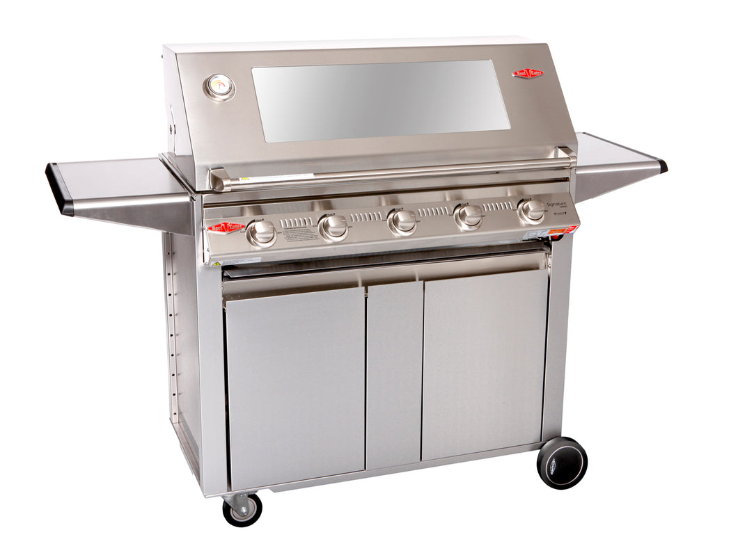 3000S Series - 5  Burner BBQ with Designer Trolley Cast Iron Pack