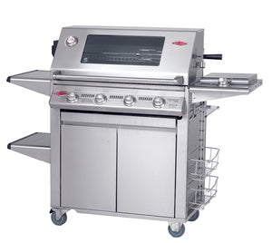 3000S Series - 4  Burner BBQ with Plus Trolley Cast Iron Pack