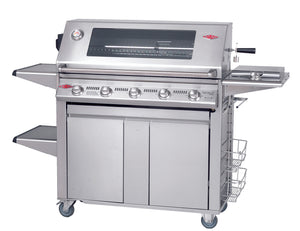 3000S Series - 5  Burner BBQ with Plus Trolley Stainless Steel Pack