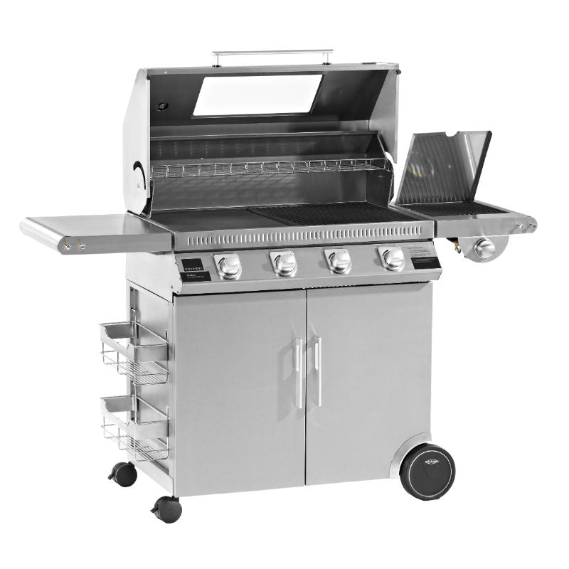 1100S Series - 4 Burner BBQ with Trolley