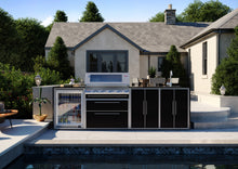 Load image into Gallery viewer, Profresco Signature Outdoor Kitchen - 5 Burner 3000s  Series BBQ, Quatro Pack with Single Fridge