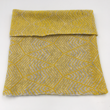 Load image into Gallery viewer, Merino wool geometric design cowl. Olive Pearson