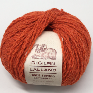 Scottish knitting wool coral